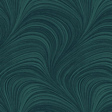 Wave Texture Teal  Cotton Fabric by Benartex
