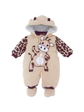 ec4f04b57d94 Product Image Animal Style Cotton-padded Newborn Toddler Baby Boy Girl  Winter Warm Romper Jumpsuit Hooded Outfits