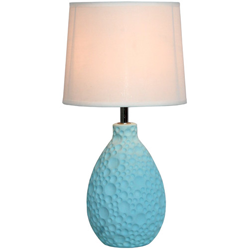 Simple Designs Texturized Stucco Ceramic Oval Table Lamp by All the Rages Inc