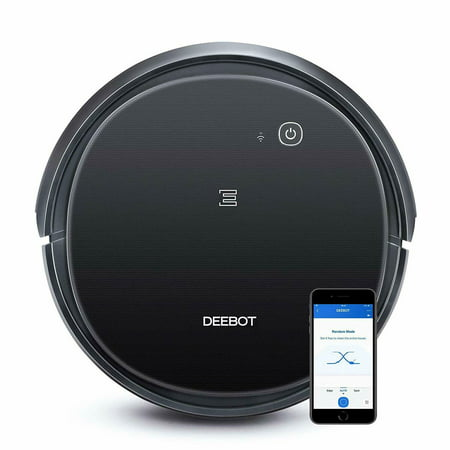 ECOVACS DEEBOT 500 Robotic Vacuum with Wi-Fi and App Controlled - Black