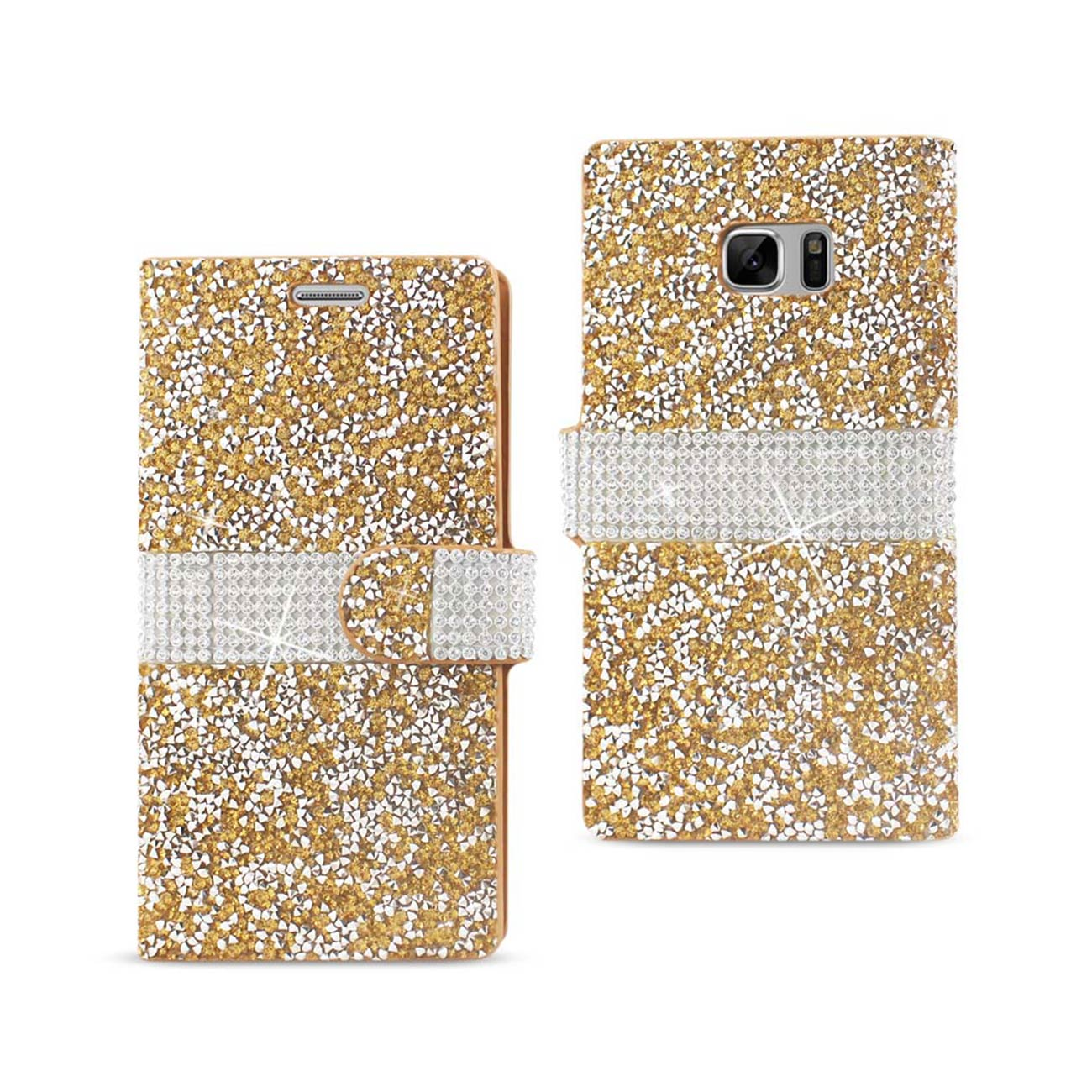 samsung galaxy note 7 jewelry wallet luxury jewelry bling diamond crystal rhinestone leather case cover