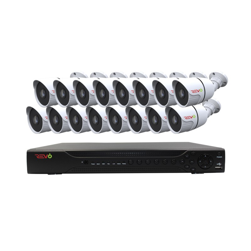 RevoAmerica Aero HD 1080p 16 Ch. Video Security System with 16 Indoor/Outdoor Bullet Cameras