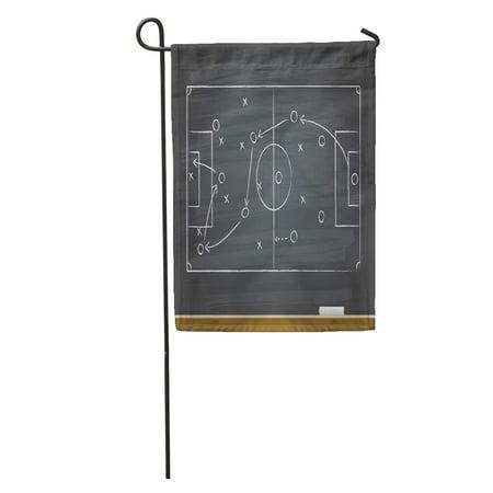 KDAGR Field Chalk Soccer Game Strategy Play Tactic Plan Football Sport Garden Flag Decorative Flag House Banner 28x40
