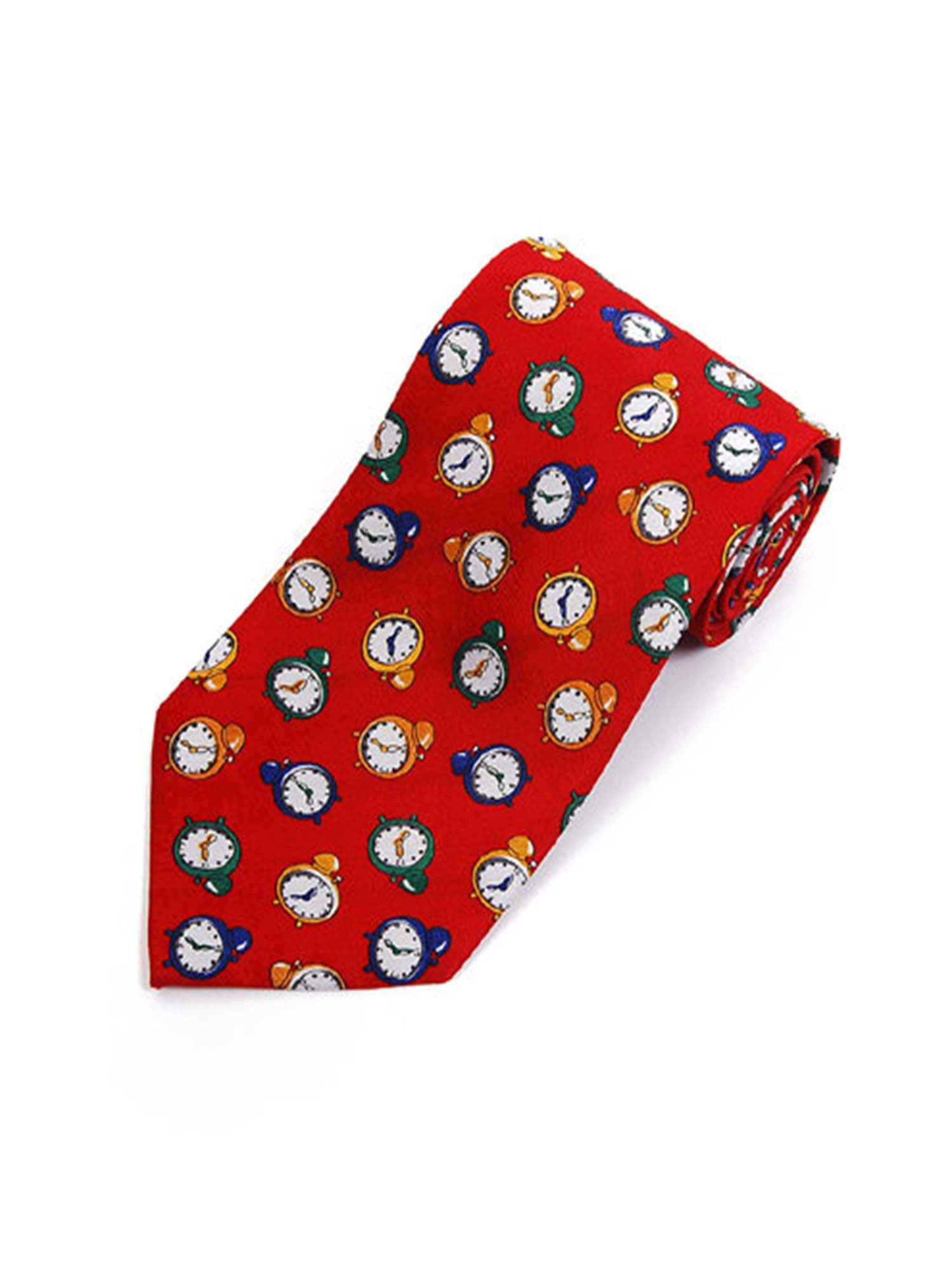 Clock Novelty Tie by