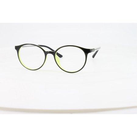 Ebe Reading Glasses Mens Womens Black Yellow Round Horn Rimmed Vibrant Anti Glare grade ckb6209
