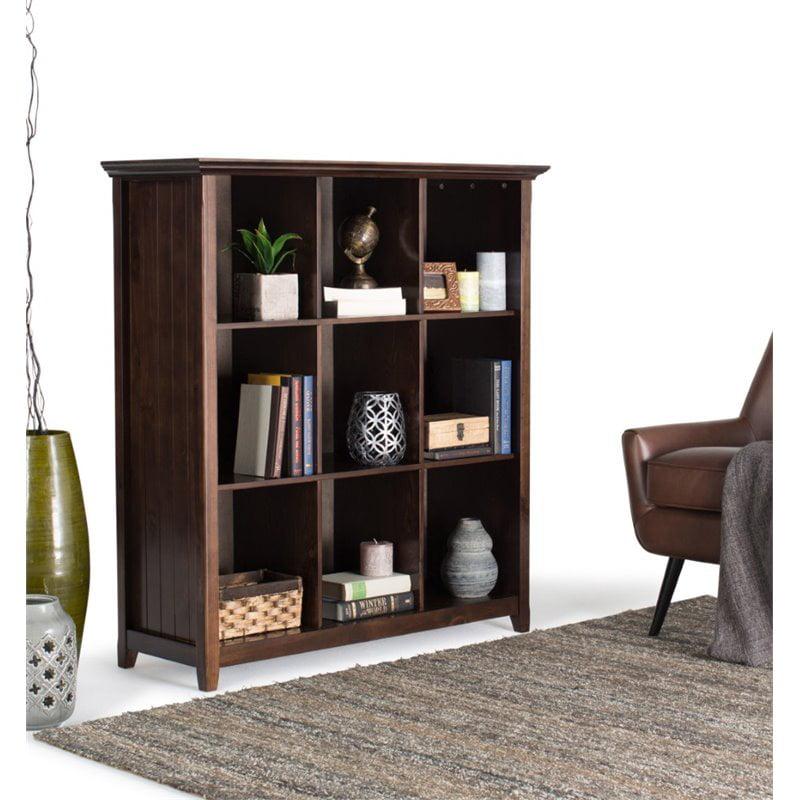 Atlin Designs 9 Cubby Bookcase in Tobacco Brown