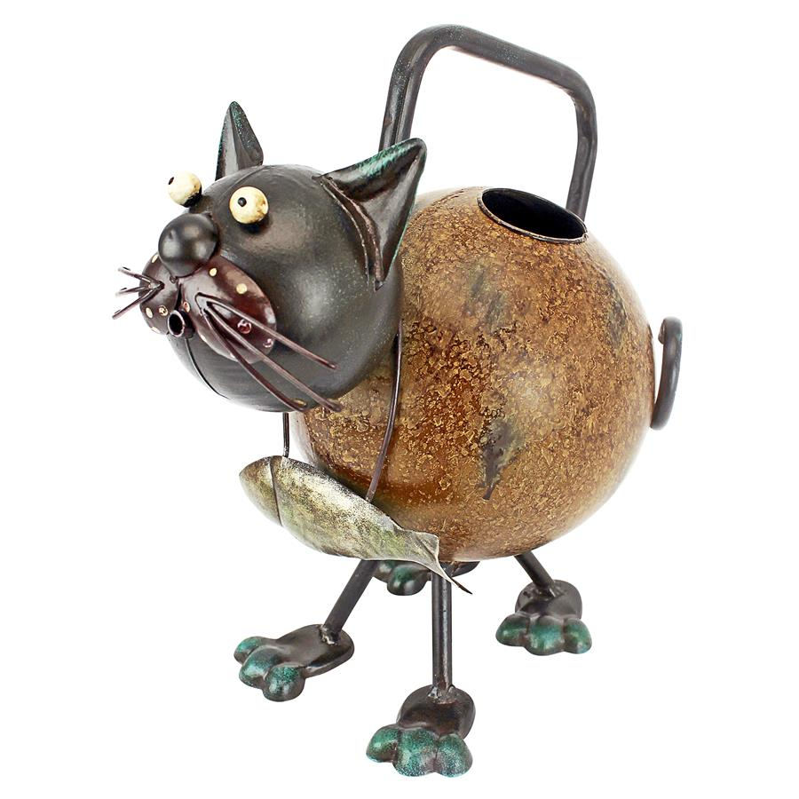 Design Toscano Back to the Farm Metal Cat Watering Can