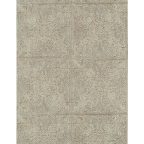 Weathered Finishes Tin Tile Wallpaper