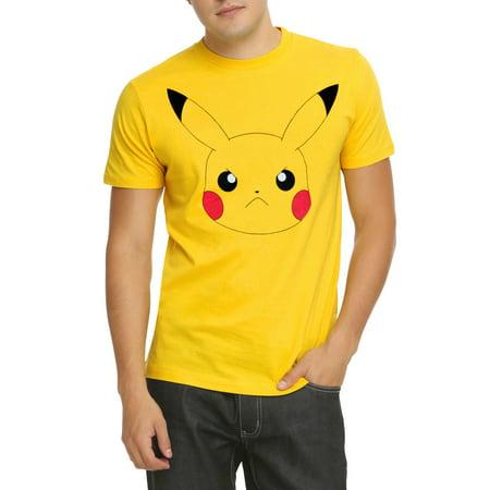 Pokemon T Shirt (Pokemon Pikachu Face T-Shirt)