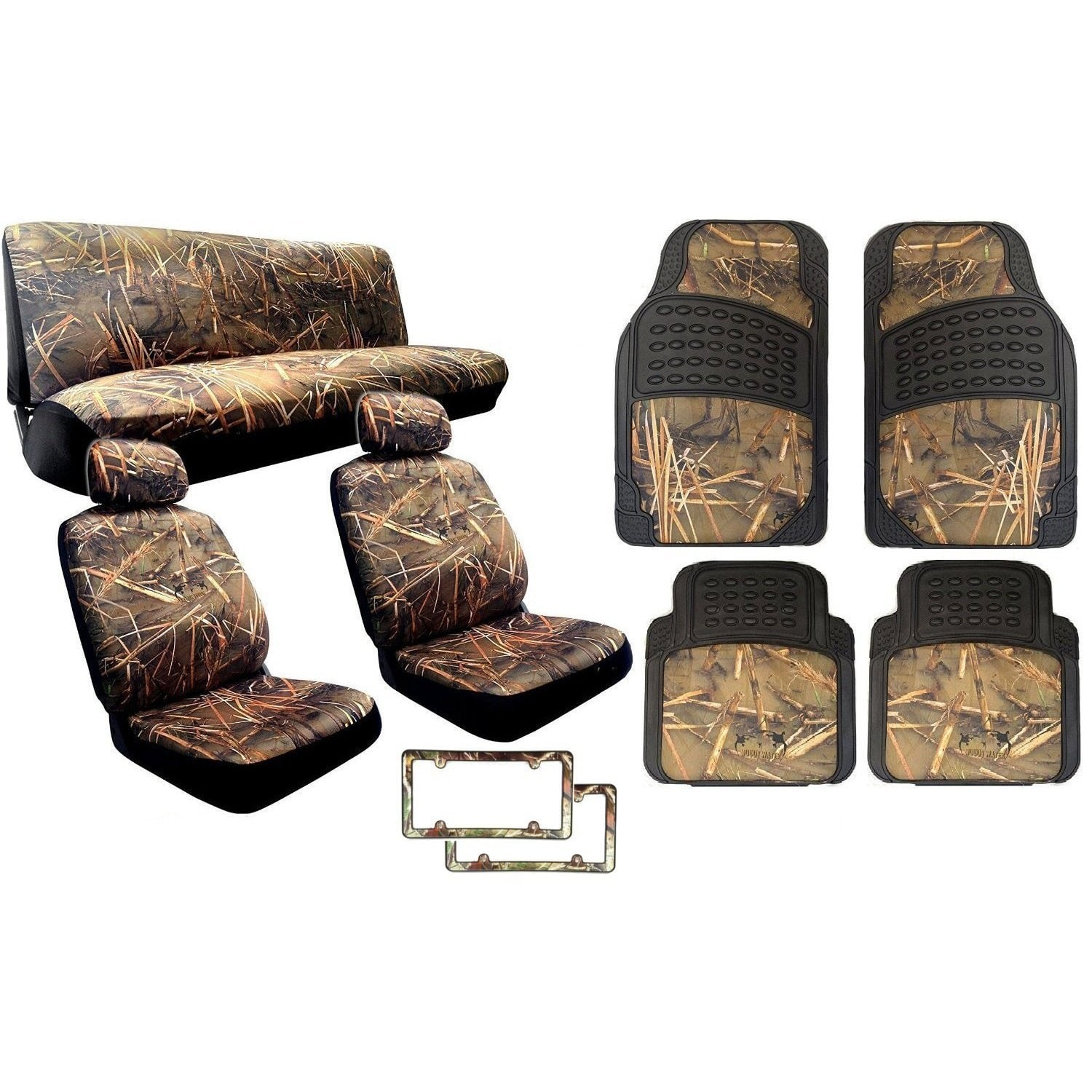 Unique Imports 15Pcs Muddy Water Forest  Designed - VW CC Includes 2 Front Seat Cover