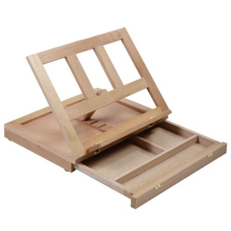 wood desk easel stand drawing painting art supplies portable artist