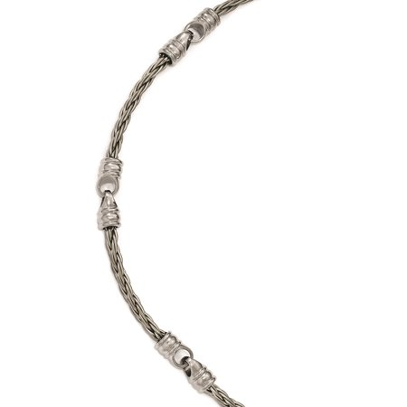 Edward Mirell Titanium Jewelry (Edward Mirell Titanium Brushed Cable & Polished Link Necklace )