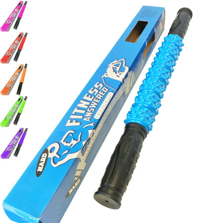 The Muscle Stick Elite Hard Massage Roller - Blue (Foam Rollers For Back And Neck Pain)