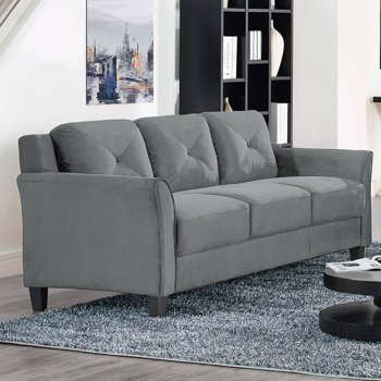 Lifestyle Solutions Ireland Sofa in Dark Grey Fabric