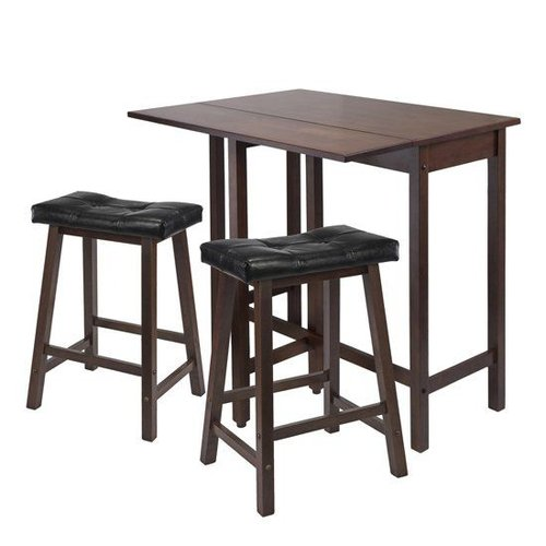 Winsome Wood 94346 Lynnwood Three-Piece Drop Leaf Kitchen Table Dining Set