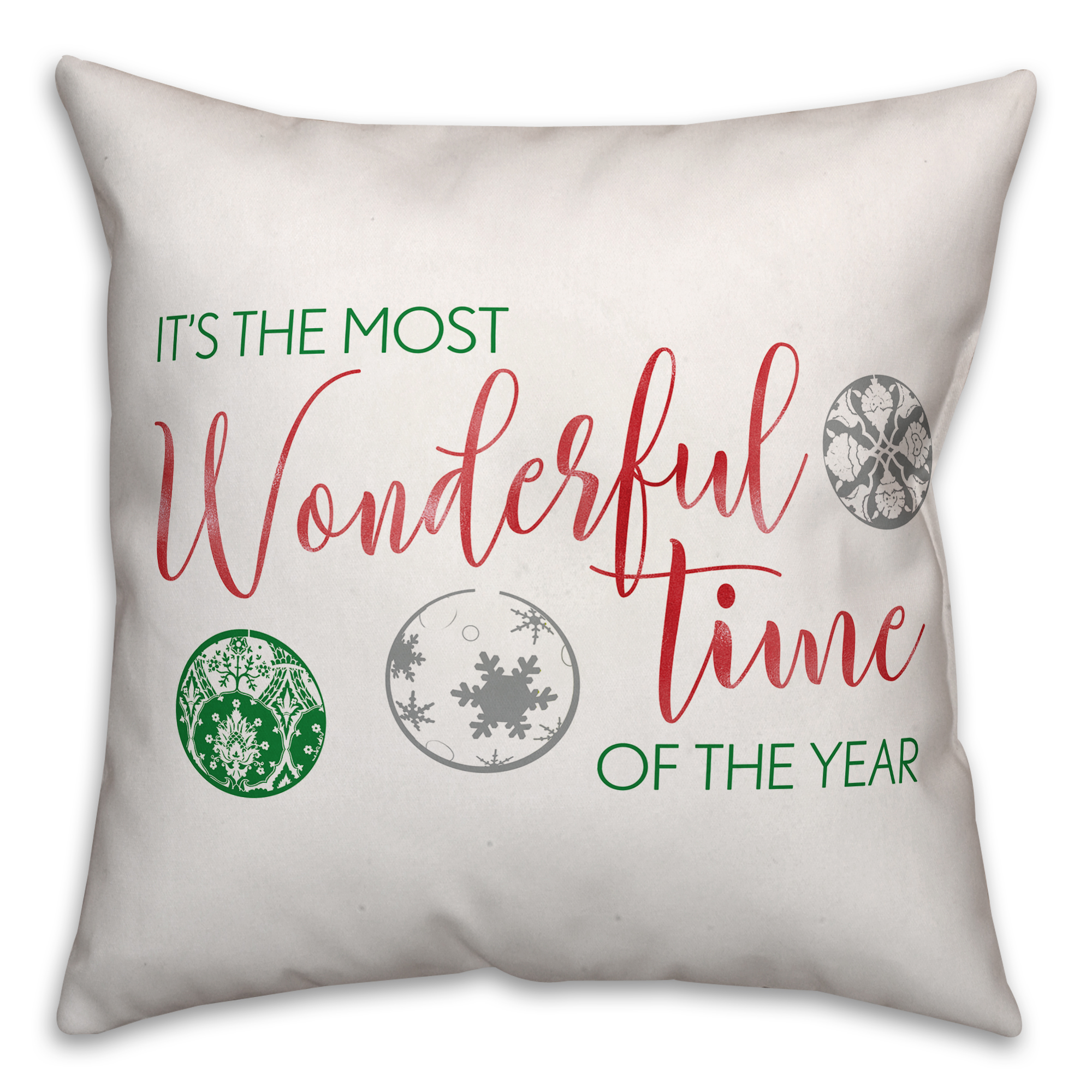 It's the Most Wonderful Time of the Year 16x16 Spun Poly Pillow Cover