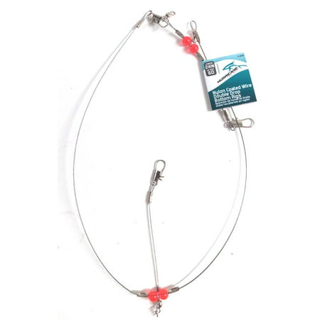 Hurricane double drop rig wire coated 24 inches - 3-22sk