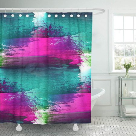 Magnificent Ksadk Watercolor Color Blue Green Purple Pink Colorful Simple Warm Wash Abstract Aqua Bathroom Shower Curtain 60X72 Inch Complete Home Design Collection Barbaintelli Responsecom