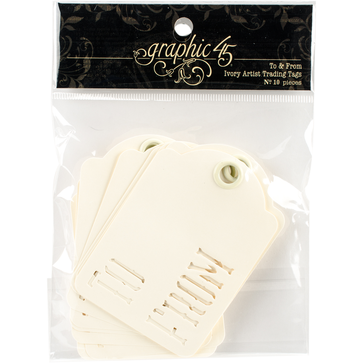 """Staples ATC Die-Cut Cardstock Tags, 2.5"""" x 3.5"""", 10pk, To and From, Ivory"""