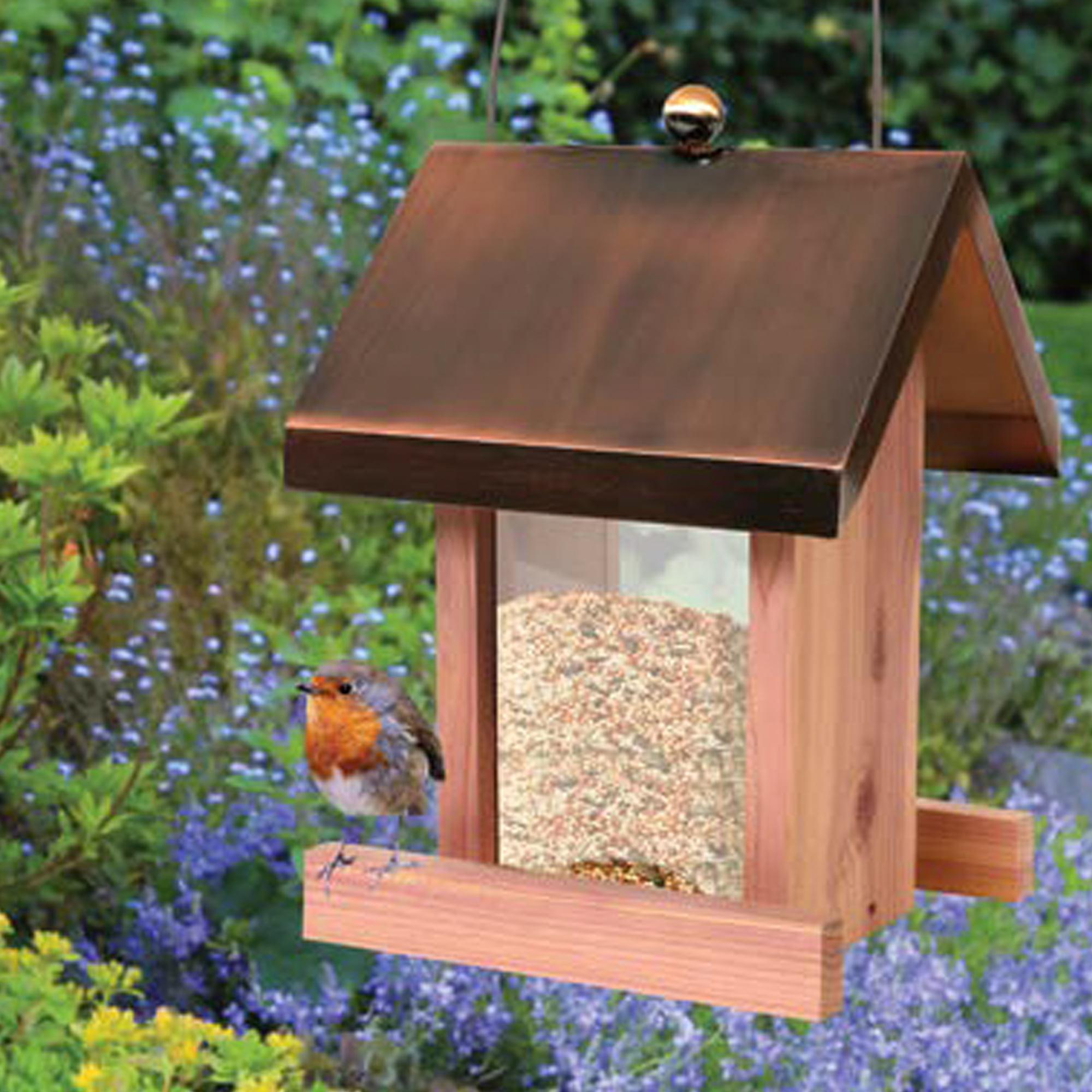 pennington copper roof villa wild bird feeder 1 5 lbs seed