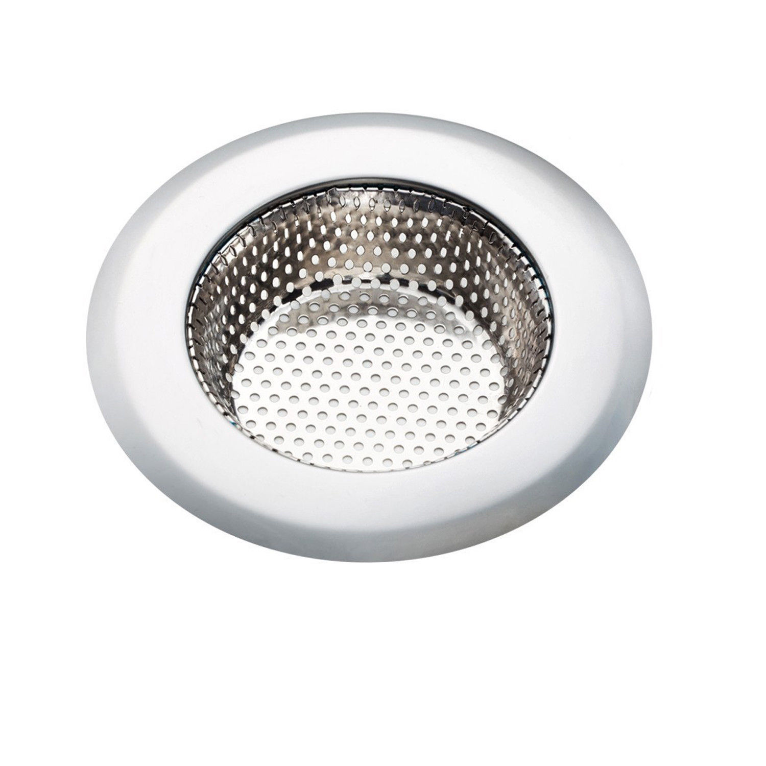 """EEEKit Kitchen Sink Strainer, Stainless Steel Screen Mesh Basket Cover Catcher/Stopper Prevent Clogged Drains for   Kitchen Shower & Utility Rooms, Drain Fliter Strainer Large Wide 4.3"""""""