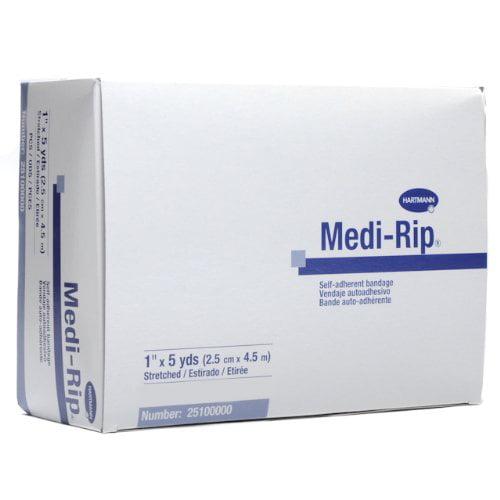 "Medi-Rip Self-Adherent Bandage Wraps 1"" x 5 Yards 6 Rolls MS-36110"