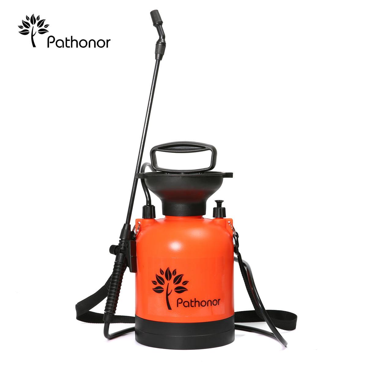 PATHONOR Super Garden Sprayer, 3L/0.8Gal Pressure Sprayer weed Sprayer with 22 inch Wand Home & Garden and 51 inch hose for Fertilizer Herbicides Pesticides