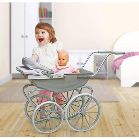 Badger Basket London Doll Pram - Executive Gray