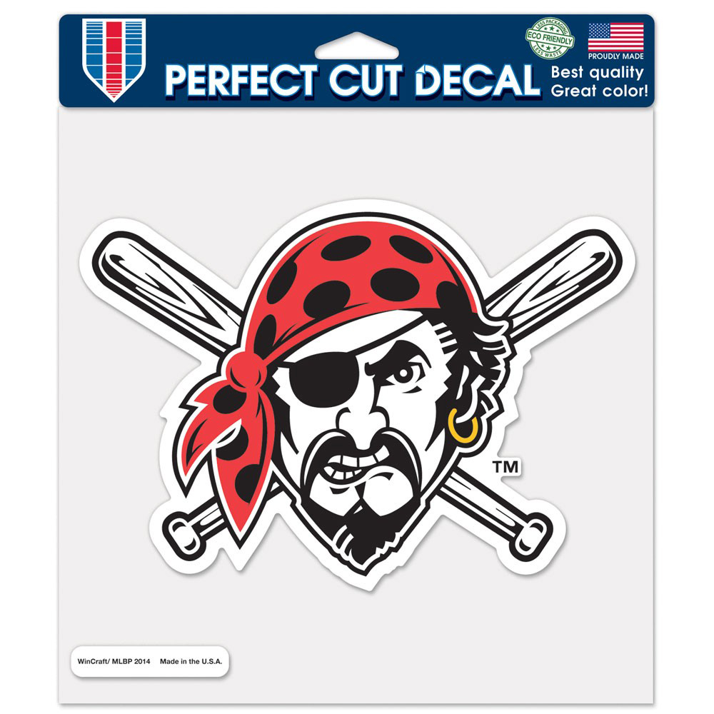 """Pittsburgh Pirates WinCraft 8"""" x 8"""" Color Decal - - No Size"""