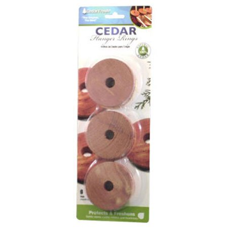 Ttup 14306 Cedarfresh Red Cedar Wood Rings For Hangers   Set Of 6  Fast Shipping Brand Household Essentials