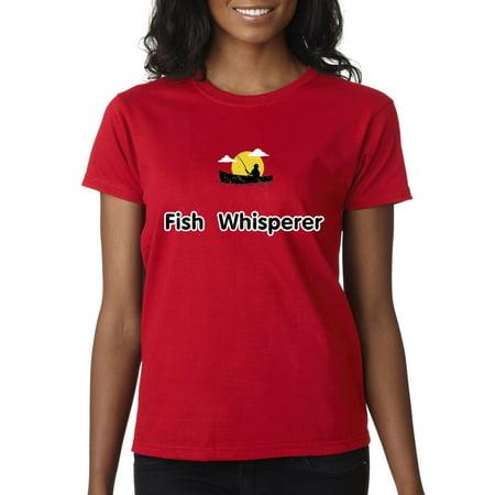 New Way 034 - Women's T-Shirt Fish Whisperer Fishing Boat (International Royal Danish Fish)