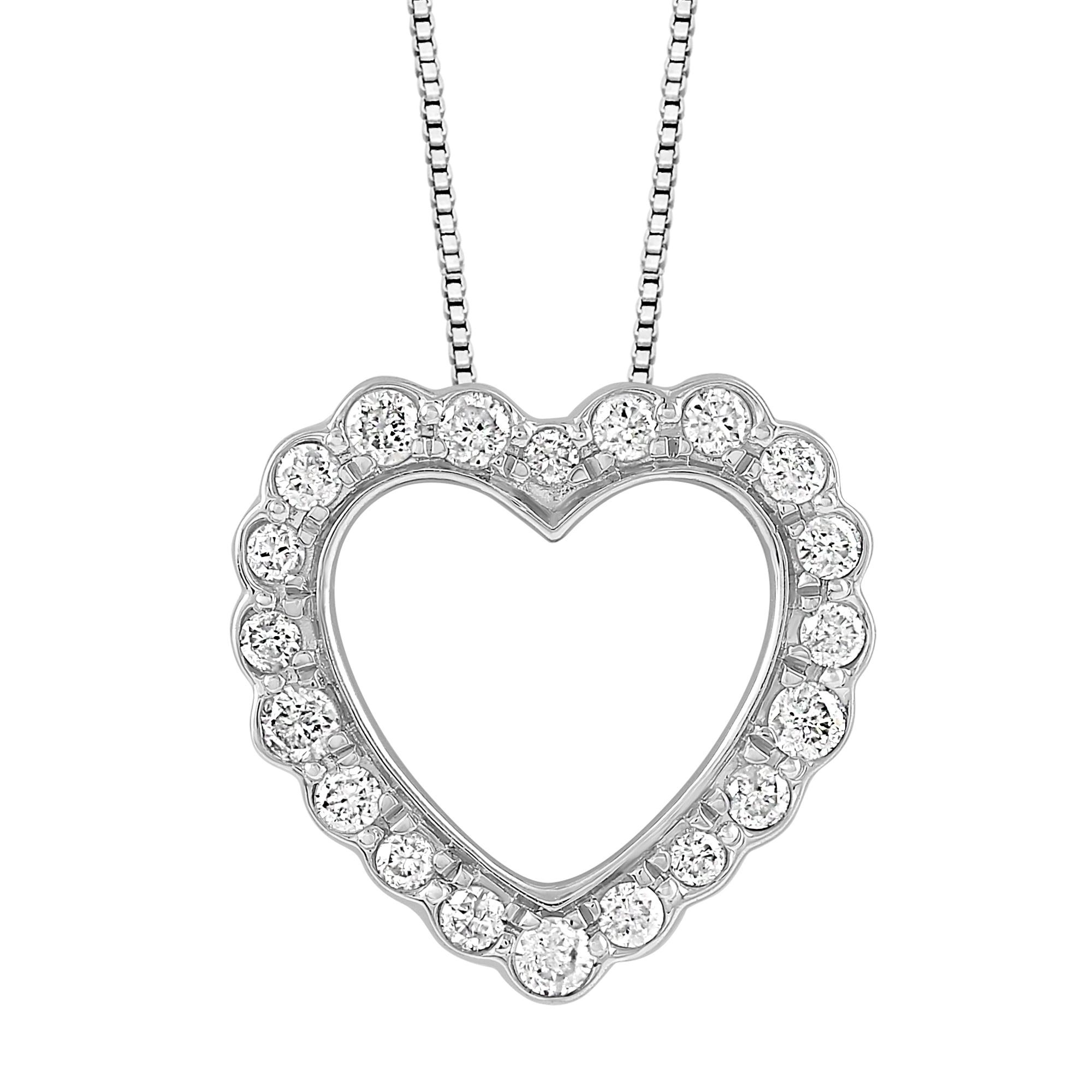 1//10 cttw KATARINA Cognac Diamond Cross Pendant Necklace in Sterling Silver