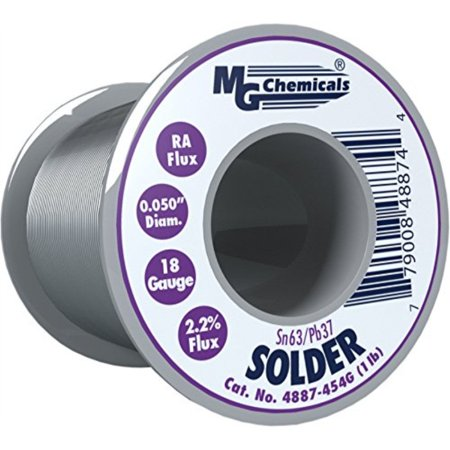 - MG Chemicals 63/37 Rosin Core Leaded Solder, 0.05