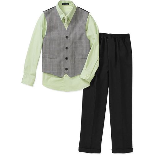 George - Boys' 4-Piece Shirt, Pants, Vest and Tie Set