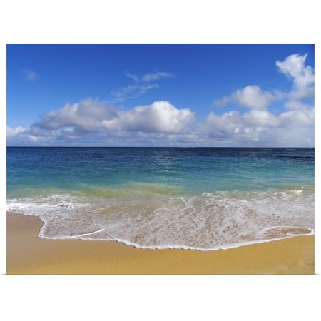 Great BIG Canvas | Rolled Ron Dahlquist Poster Print entitled Hawaii, Maui, North Shore, Beautiful Day On Baldwin