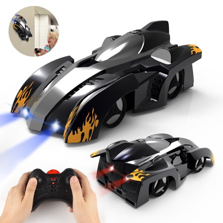 Remote Control Car Kids Toys for Boys Girls,Head and Rear with Powerful LED Light,360°Rotating Stunt Wall Climbing RC Car (Kids Remote)