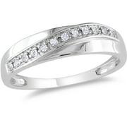 Diamond-Accent 10kt White Gold Wedding Band