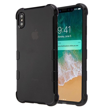 Apple iPhone Xs Max (6.5 Inch) Phone Case Slim Thin Tuff Klarity Hybrid Candy Silicone Rubber Soft Protective Cover Transparent Black Phone Case for Apple iPhone Xs - Black Silicone Soft Cover Case