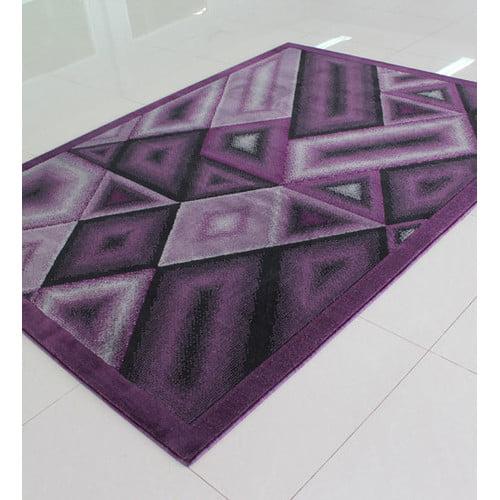 Rug Tycoon Purple Area Rug