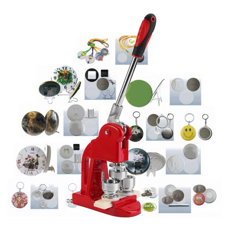 Badge Button Pin Maker Kit,2.5cm Badge Punch Press Maker Machine With 1000 Circle Button