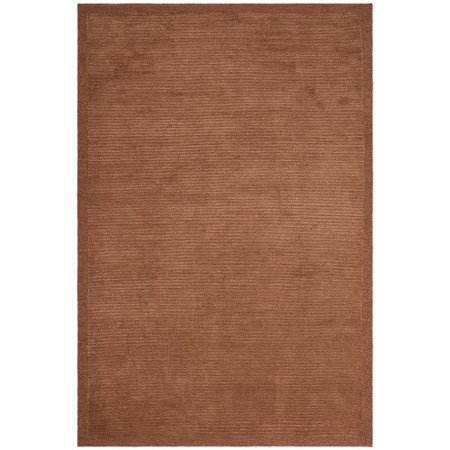 - Safavieh Tibetan Collection TB212E Hand-Knotted Coral Silk & Wool Area Rug (5' x 7'6