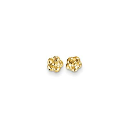 - 14k Yellow Gold Flower Post Stud Earrings Gardening Gifts For Women For Her