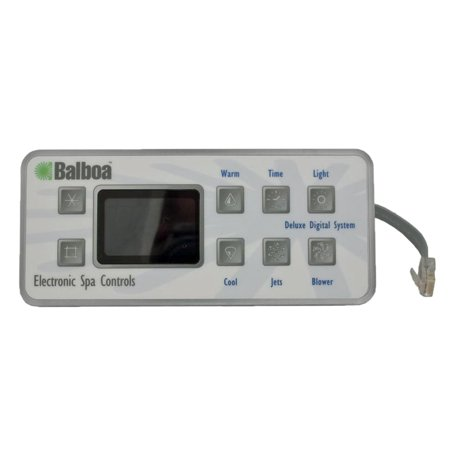 Digital Image Control - Balboa 51058-01 Deluxe Digital 8-Button LED Topside Control