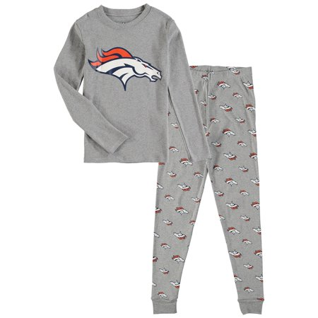 OuterStuff NFL Kids Denver Broncos Long Sleeve Tee & Pant Sleep Set Nfl Sleep Pant