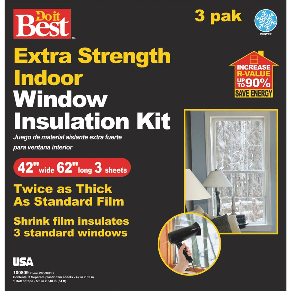 Thermwell Products Co. 3 Pack Shrink Flm Windw Kit V83/3HDB