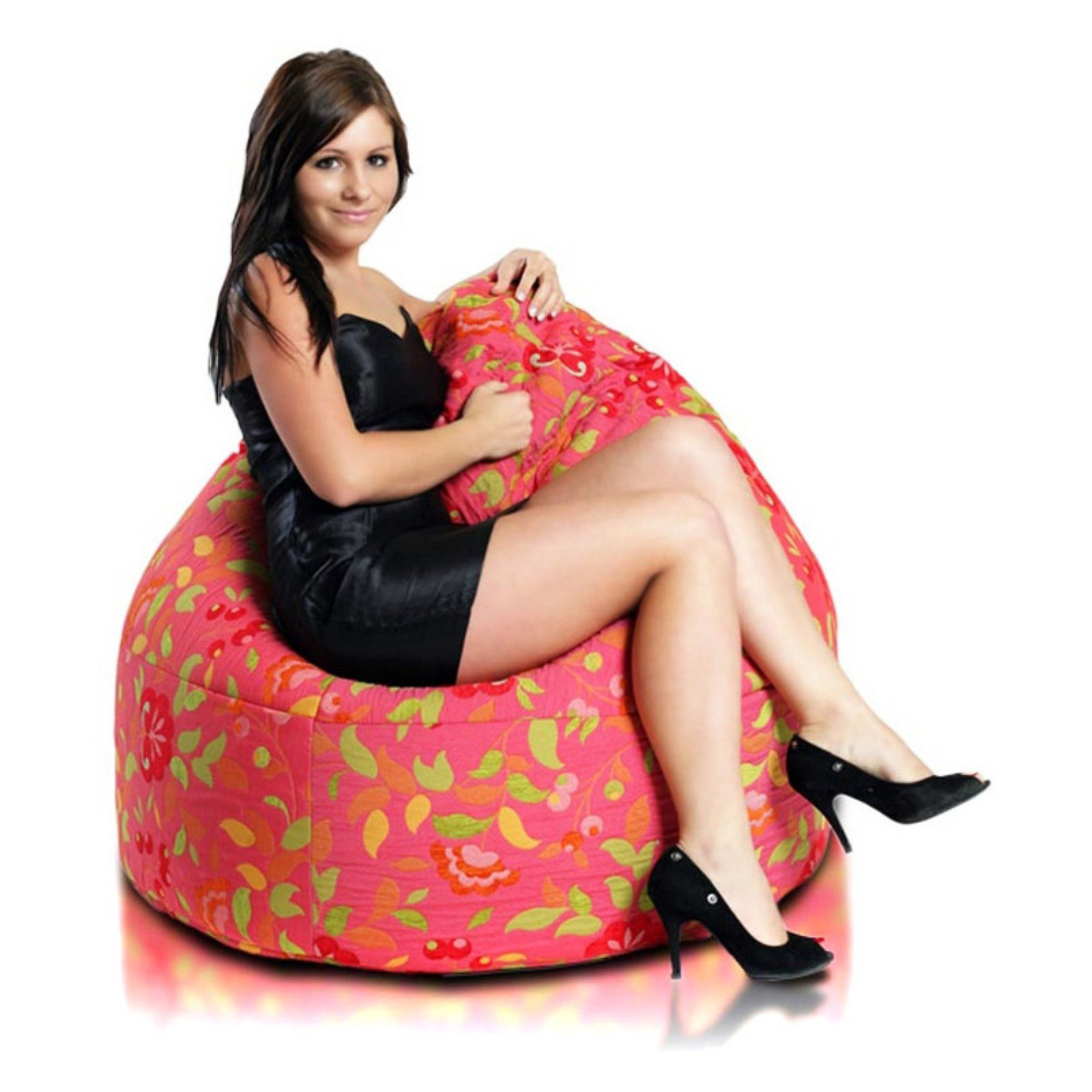 Turbo Beanbags Cake Premium Large Bean Bag Chair - Souvenir Pink