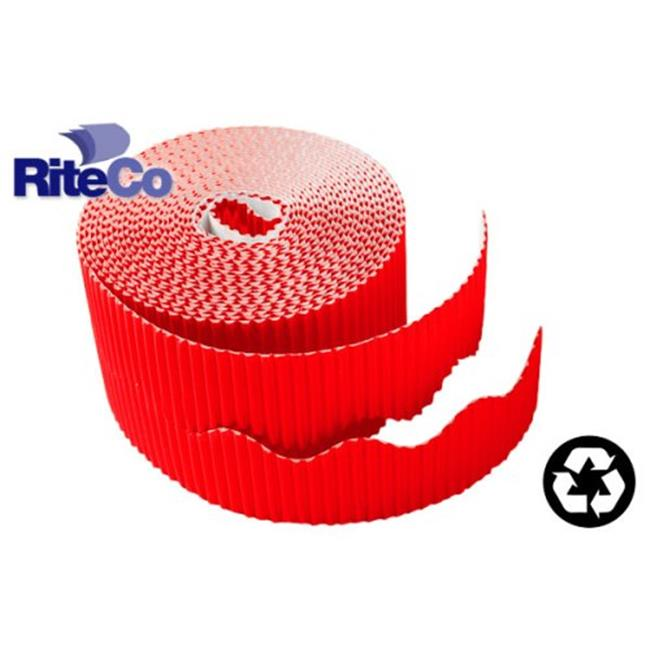 RiteCo Raydiant 22803 Riteco Trim-It Corrugated Scalloped Decorative Border.  Two . 25 inch X 50 Ft.  Strips Per Roll Bright