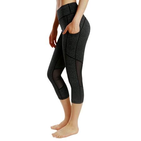 332b2f3d61 OUMY - OUMY Women Compression Capri Cropped Leggings Yoga Pants Gym ...