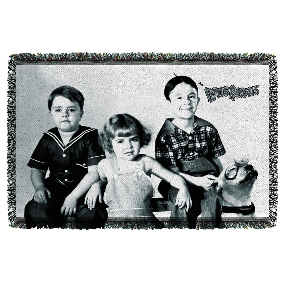 Little Rascals The Gang Woven Throw White 48X80
