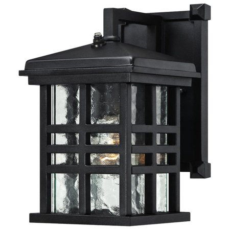 Westinghouse 6204500 Caliste Outdoor Wall Sconce With 1 Light Clear Water Gl And Photocell